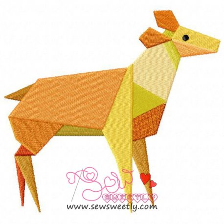 Origami Animal-8 Embroidery Design Pattern- Category- Animals Designs- 1