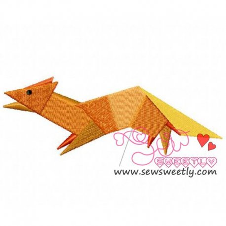 Origami Animal-7 Machine Embroidery Design For Kids