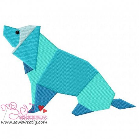 Origami Animal-2 Machine Embroidery Design For Kids