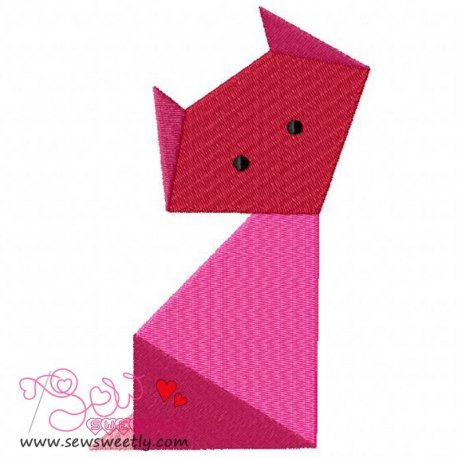 Origami Animal-1 Machine Embroidery Design For Kids