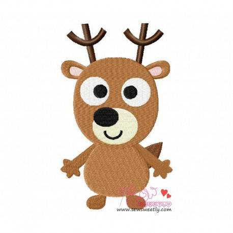Forest Friend 3 Animal Machine Embroidery Design For Kids