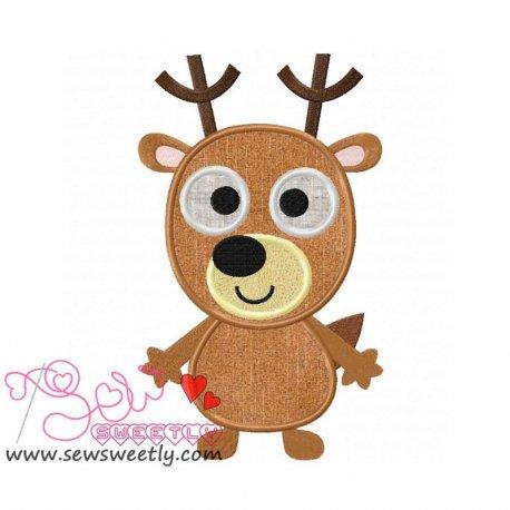 Forest Friend 3 Animal Machine Applique Design For Kids