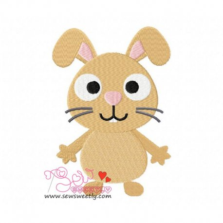 Forest Friend-Bunny Machine Embroidery Design For Kids
