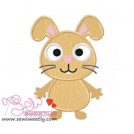Forest Friend-Bunny Applique Design Pattern- Category- Animals Designs- 1