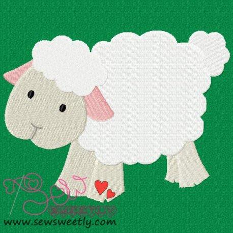 Farm Friend-Sheep Machine Embroidery Design For Kids