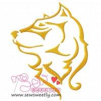 Wild Animal Embroidery Design