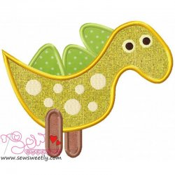 Cute Dino-3 Applique Design