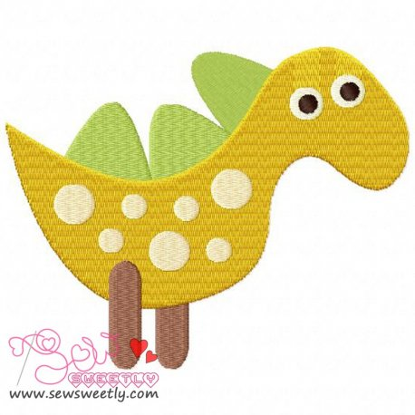 Cute Dinosaur 3 Machine Embroidery Design For Kids