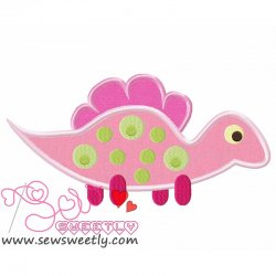 Cute Dino-6 Applique Design