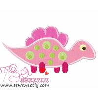 Cute Dino-6 Applique Design