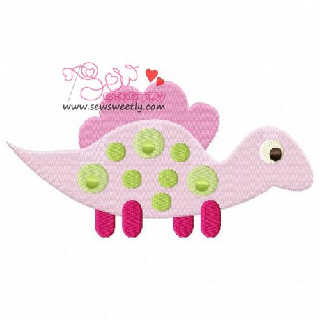 Cute Dinosaur 6 Machine Embroidery Design For Kids