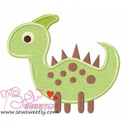 Cute Dino-5 Applique Design
