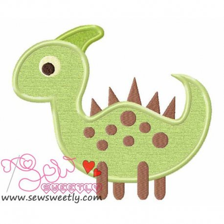 Cute Dinosaur 5 Machine Applique Design For Kids
