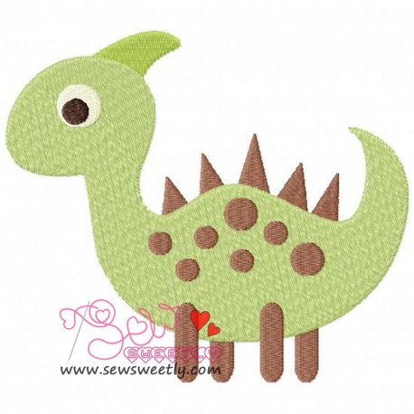 Cute Dinosaur 5 Machine Embroidery Design For Kids