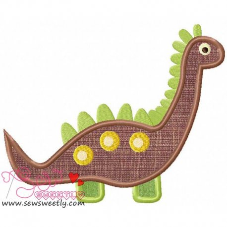 Cute Dinosaur 4 Machine Applique Design For Kids