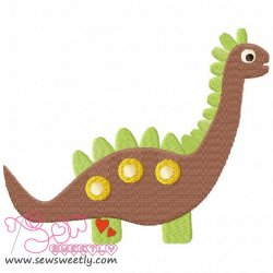 Cute Dino-4 Embroidery Design