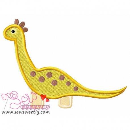 Big Dinosaur 9 Machine Applique Design For Kids
