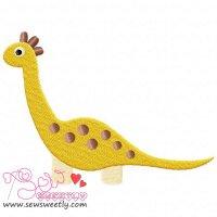 Big Dino-9 Embroidery Design
