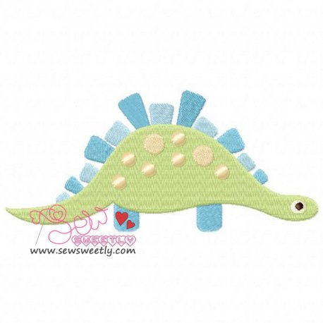 Big Dinosaur 8 Machine Embroidery Design For Kids