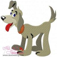 Blue Eyes Dog Embroidery Design