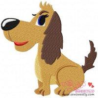Cute Dog Embroidery Design