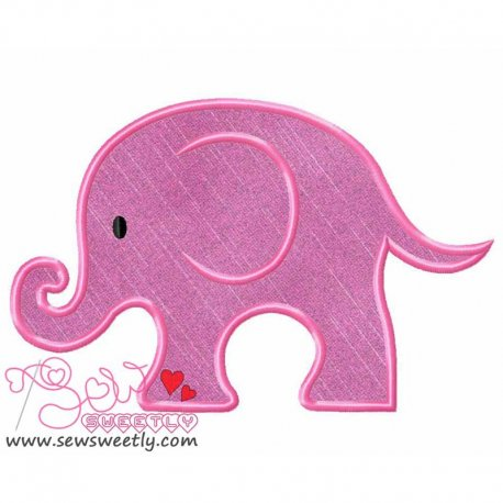 Cute Elephant Machine Applique Design For Kids