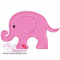 Cute Elephant Embroidery Design