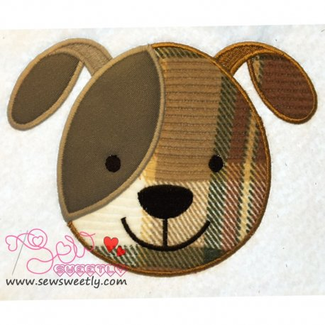 Dog Face Applique Design Pattern- Category- Animals Designs- 1