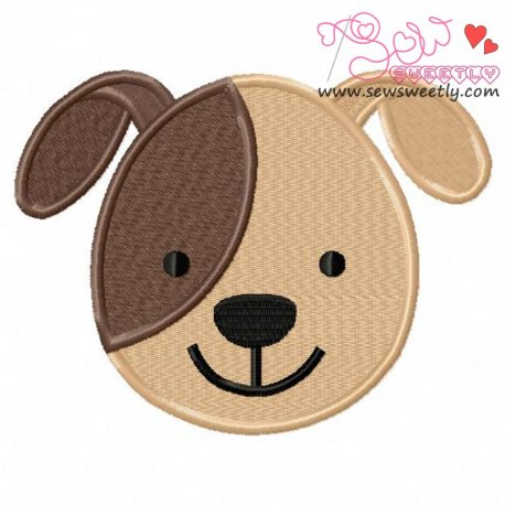 Dog Face Machine Embroidery Design For Kids