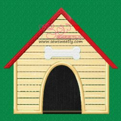 Dog House Applique Design