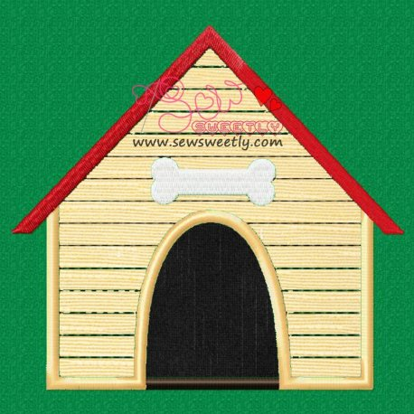 Dog House Machine Applique Design For Kids