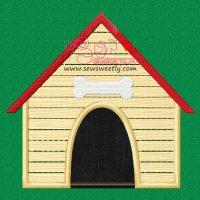 Dog House Applique Design