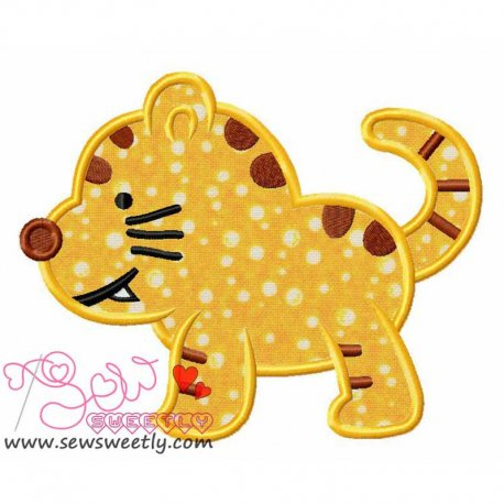 Cute Kitty Machine Applique Design For Kids