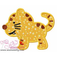 Cute Kitty Applique Design