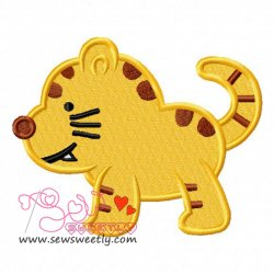 Cute Kitty Embroidery Design