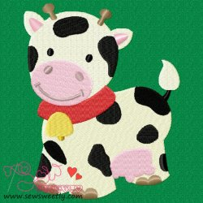 Farm Friend-Cow Embroidery Design