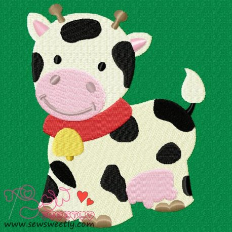 Farm Friend-Cow Machine Embroidery Design For Kids