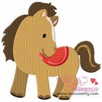 Farm Friend-Horse Embroidery Design