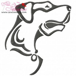 Wild Dog Embroidery Design