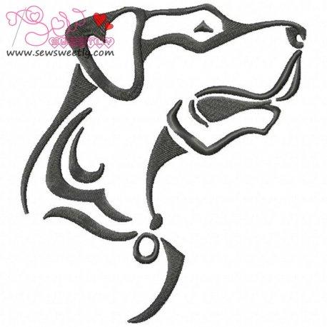 Wild Dog Machine Embroidery Design For Kids