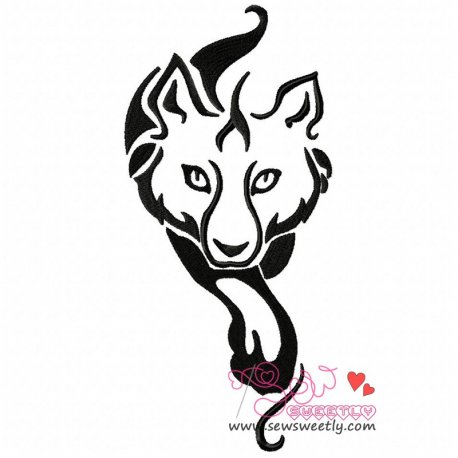 Wild Wolf-3 Machine Embroidery Design For Kids