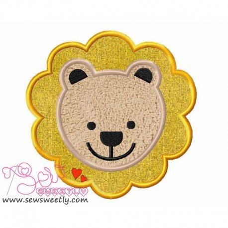 Lion Face Machine Applique Design For Kids