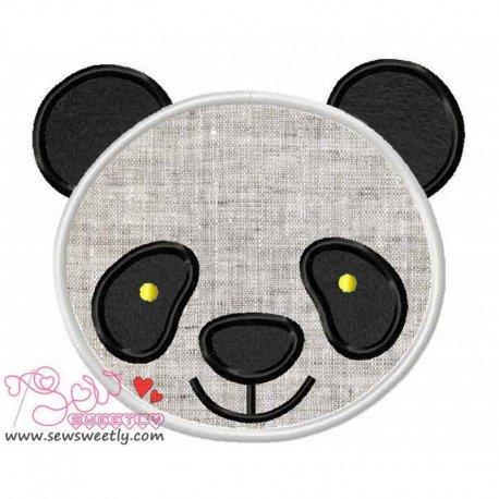 Panda Face Machine Applique Design For Kids