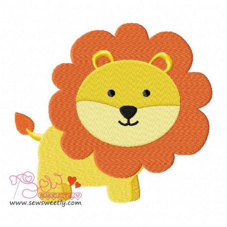 Lion Machine Embroidery Design For Kids