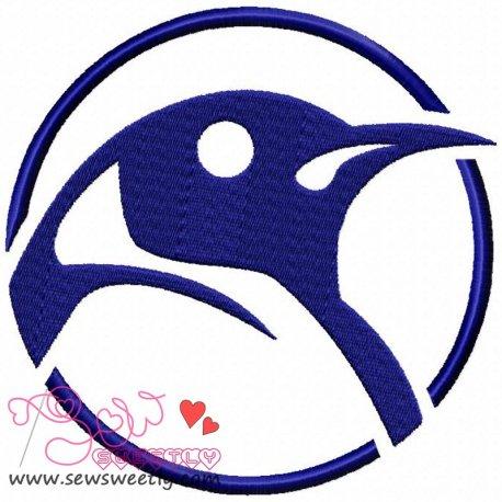 Bird Head Machine Embroidery Design For Kids