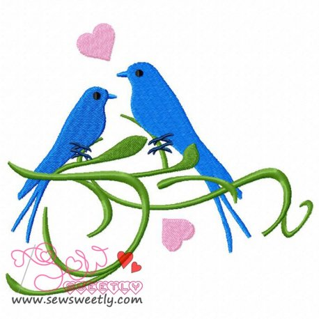 Birds On a Branch Machine Embroidery Design For Kids
