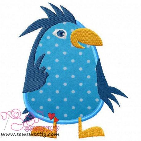 Blue Bird Machine Applique Design For Kids