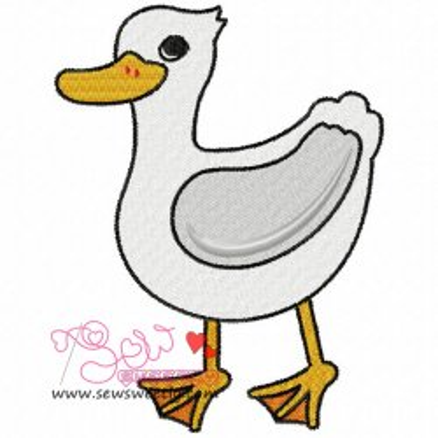 Cute Duck Embroidery Design
