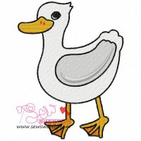 Cute Duck Embroidery Design