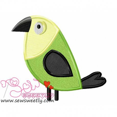Feathered Friends-3 Machine Applique Design For Kids